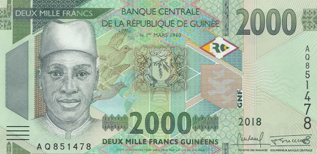 (209) Guinea P48Aa - 2000 Francs Year 2018