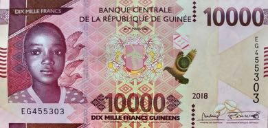 (240) ** PNew Guinea 10000 Francs Year 2018