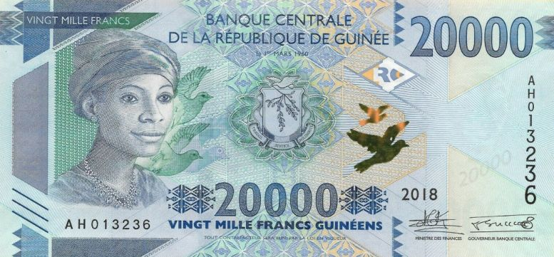 (175) ** PNew Guinea 20.000 Francs Year 2018