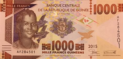 P48 Guinea 1000 Francs Year 2015