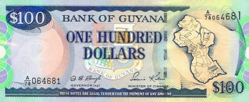 P31 Guyana 100 Dollars Year 1999
