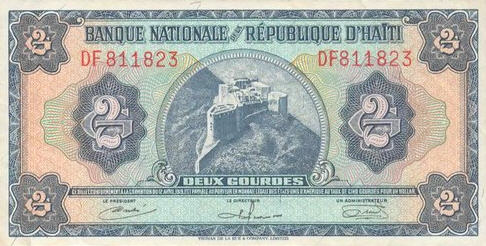P191 Haiti 2 Gourdes Year ND