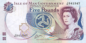 P41b Isle of Man 5 Pound