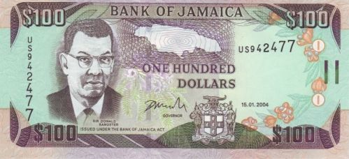 P80d Jamaica 100 Dollars Year 2004