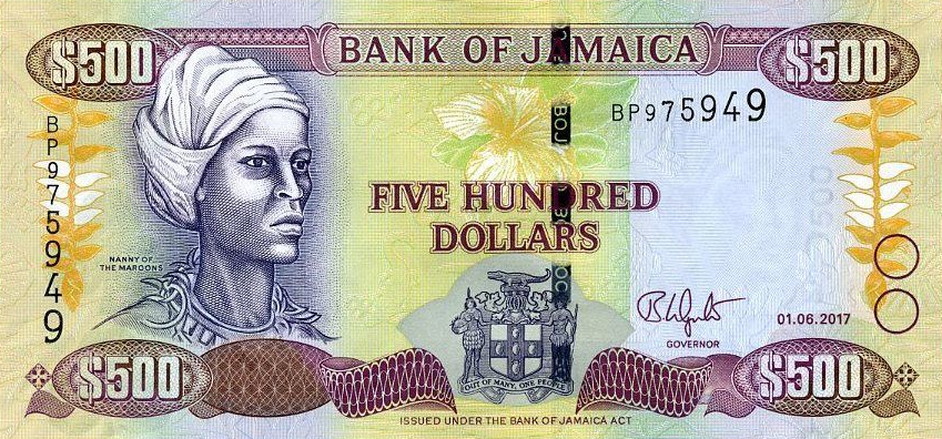(429) Jamaica 85k - 500 Dollars Year 2017
