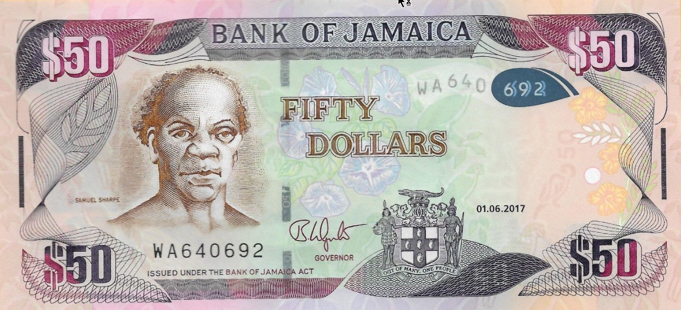 P94b Jamaica 50 Dollars Year 2017
