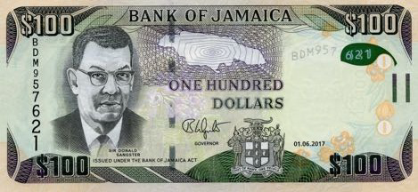 (432) Jamaica P95 - 100 dollars Year 2017