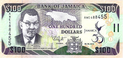 P90 Jamaica 100 Dollars (Commemorative 50 Year)