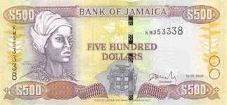P85 Jamaica 500 Dollars Year 2005