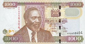 P45 Kenya 1000 Shillings Year 2003