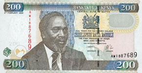 P46 Kenya 200 Shillings Year 2003