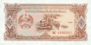 28.00 Euro - Laos P28 Bundle of 100 pieces