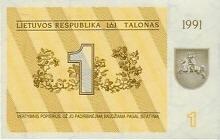 P32a Lithuania 1 Talona Year 1991