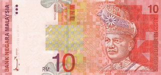 P42d Malaysia 10 Ringgit Year nd
