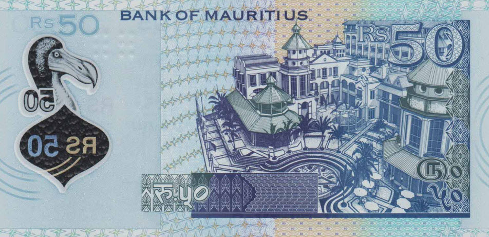 (502) Mauritius P65 - 50 Rupees Year 2013 (Polymer)