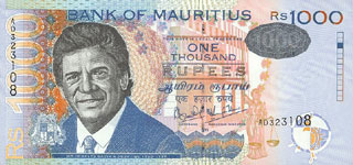 P54 Mauritius 1000 Rupees Year 1999/2001