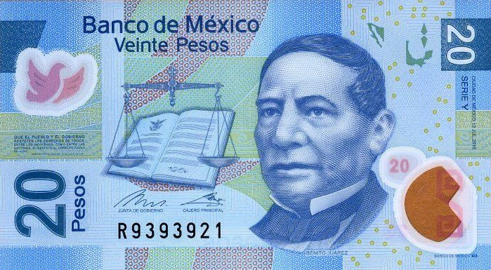 P122 Mexico 20 Pesos Year 2016