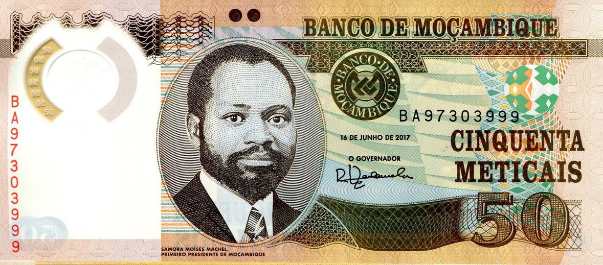 P150b Mozambique 50 Meticais Year 2017