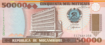 P138 Mozambique 50.000 Meticaos Year 1993