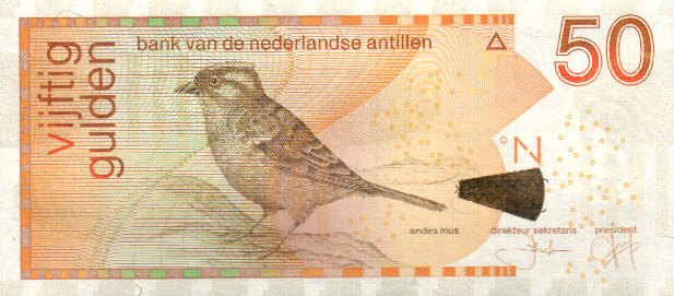 P30f Netherlands Antilles 50 Gulden Year 2012