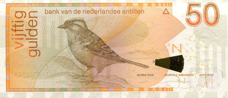 P30 Netherlands Antilles 50 Gulden Year 2013