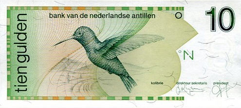 P23a Netherlands Antilles 10 Gulden Year 1986