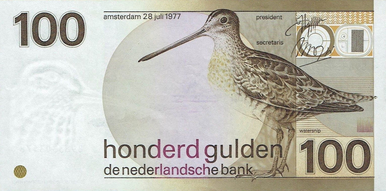 P 97 Netherlands 100 Gulden Year 1977
