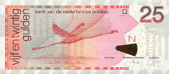 P29c Netherlands Antilles 25 Gulden Year 2003