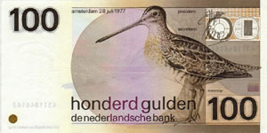 P 97 Netherlands 100 Gulden Year 1981