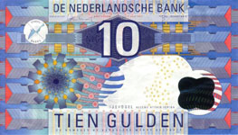 P 99 Netherlands 10 Gulden Year 1997