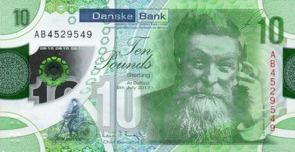 (356) ** PNew Northern Ireland 10 Pounds Year 2019 (Danske Bank)