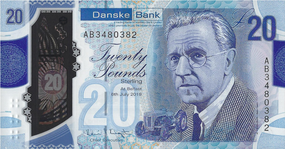 (162) ** PNew Northern Ireland 20 Pounds (Danske Bank) 2020