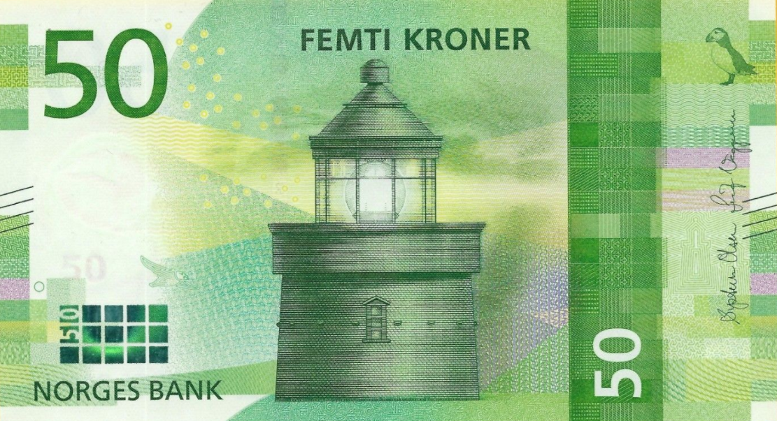 (382) ** PNew Norway 50 Kronur Year 2017 (2018)