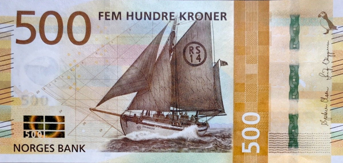 (383) ** PNew Norway 500 Kronur Year 2018