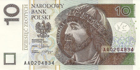 P183 Poland 10 Zlotych Year 2012 (2014)