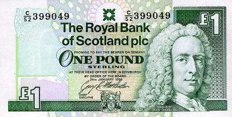 P351a Scotland 1 Pound Year 1989
