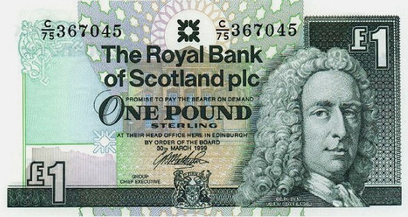 P351d Scotland 1 Pound Year 1999