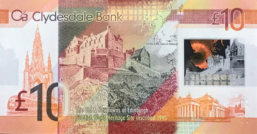 (482) ** PNew Scotland 10 Pounds 2017 (Clydesdale Bank)