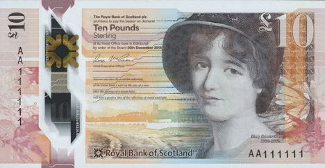 (484) ** PNew Scotland 10 Pounds 2017 (Royal Bank of Scotl.)