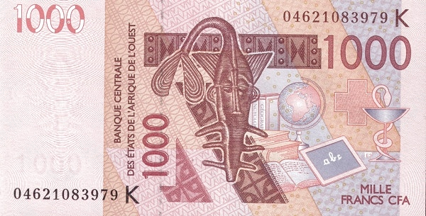 (164) Senegal W.A.S. K P715Kb - 1000 Francs Year 2004