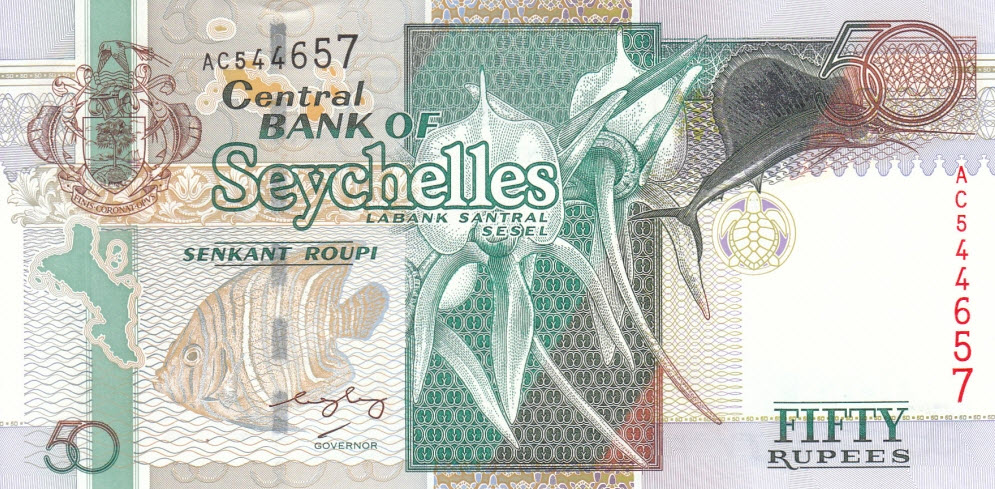 P39A Seychelles 50 Rupees Year 2004