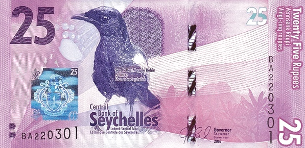 (330) Seychelles P48 - 25 Rupees Year 2016