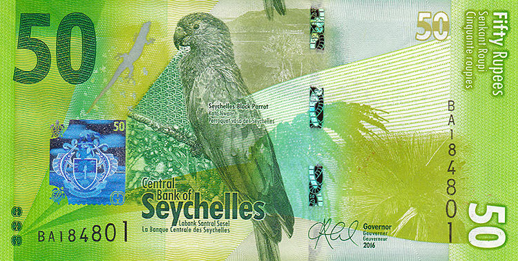 P49 Seychelles 50 Rupees Year 2016