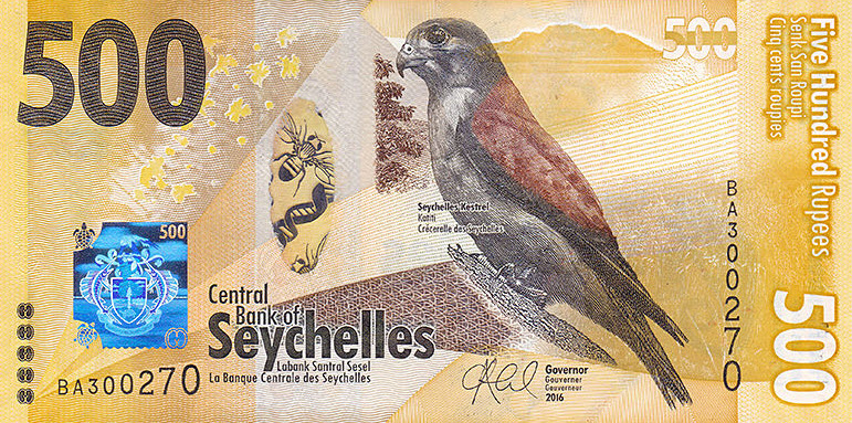 P51 Seychelles 500 Rupees Year 2016