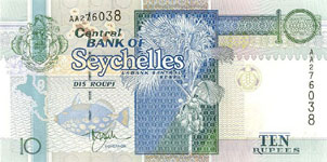 P36 Seychelles 10 Rupees Year nd