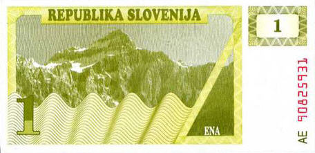 P 1 Slovenia  1 Tolar Year ND