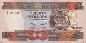 P16 Solomon Islands 20 Dollar Year nd