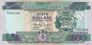P17 Solomon Islands 50 Dollar Year nd