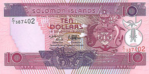 P20 Solomon Islands 10 Dollars nd