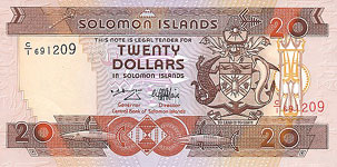 P21 Solomon Islands 20 Dollar Year nd